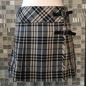 Burberry London blue label plaid mini skirt 38 4 S